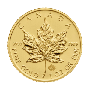 1 اوقية عملة ذهبية ورقة قيقب سنة كندية