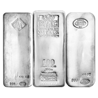 100 oz Johnson Matthey Bache Vintage Silver Bar
