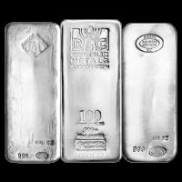 100 oz reiner sortierter Silberbarren