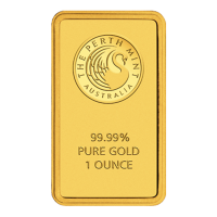 Barra a placchetta in oro 1 oz Perth Mint