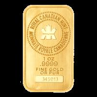 1 oz dünner Goldbarren von der Royal Canadian Mint