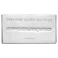 Barra in argento 100 oz Engelhard
