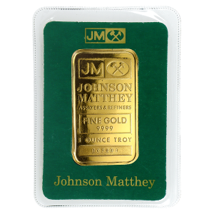 Lingot d'or Johnson Matthey de 1 once