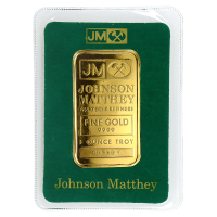 1 oz dünner Goldbarren - Johnson Matthey