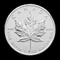 1 oz gebrauchte kanadische Ahornblatt-Silbermünze