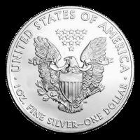 1 oz Silbermünze - amerikanischer Adler - aus 2. Hand