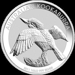 1 kg | kilo 2011 Australian Kookaburra Silver Coin