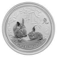 1 oz 2011 Lunar Year of the Rabbit Silver Coin