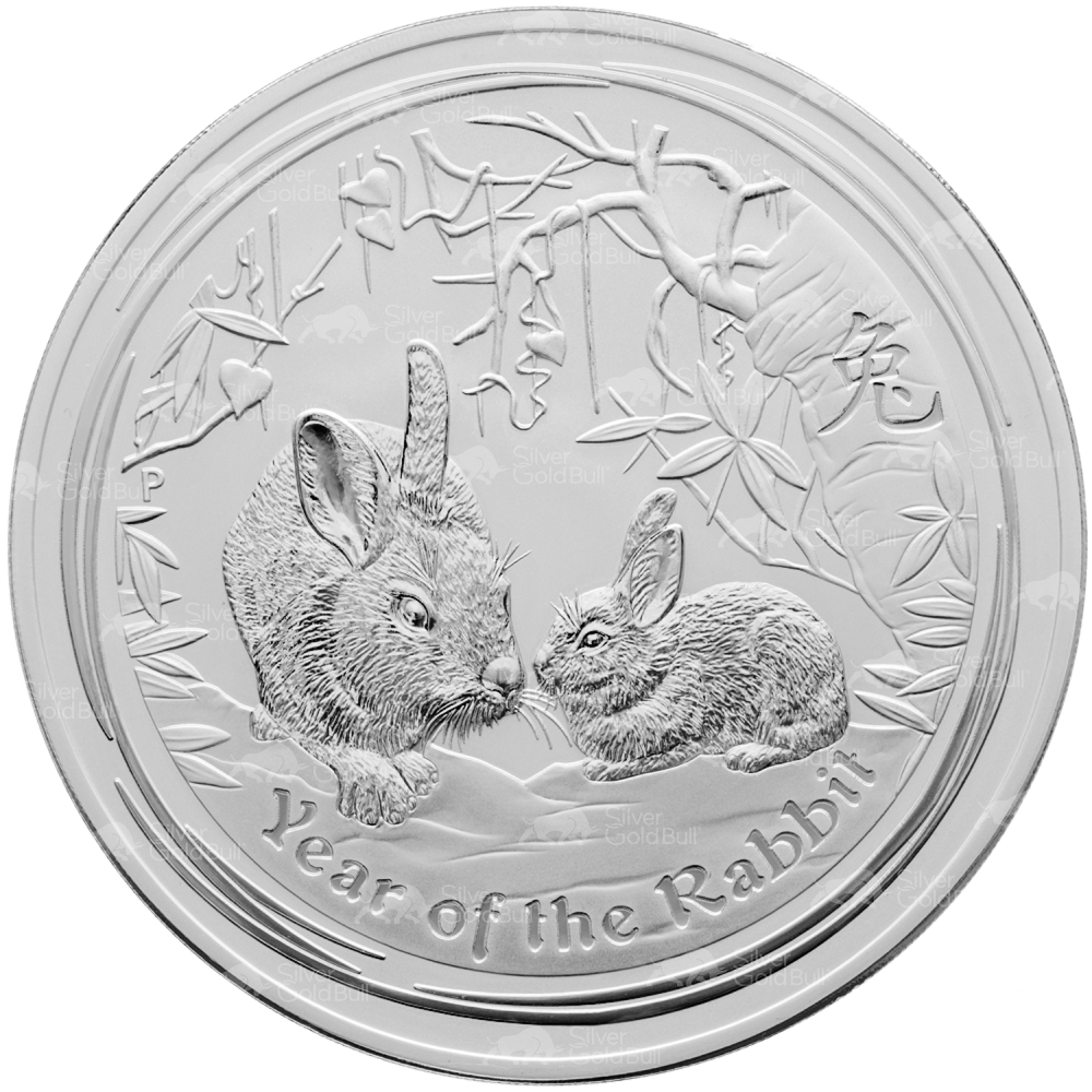 1 Kg Kilo 2011 Lunar Year Of The Rabbit Silver Coin Ebay