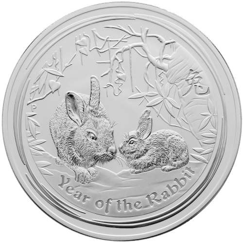 1 kg | kilo 2011 Lunar Year of the Rabbit Silver Coin