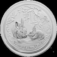 1 kg Silbermünze Jahr des Hasen Mondserie 2011