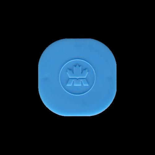 Leere hellblaue Röhre mit Deckel für 3/4 - 1,5 oz RCM Silbermünzen