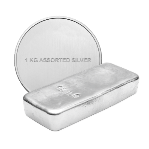 1 kg | kilo Pure Assorted Silver Bullion