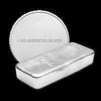 1 kg reine sortierte Silberbarren