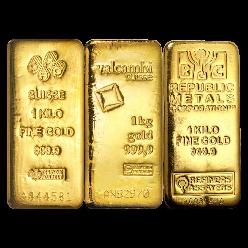 1 kg ausgewählter Goldbarren