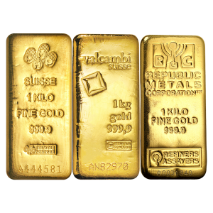1 kg | kilo Pure Assorted Gold Bar