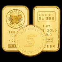 1 oz reines ausgewähltes Gold