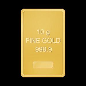 Assortimento di placchette in oro 10 g