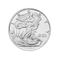 1/2 oz Walking Liberty Zilveren Plak