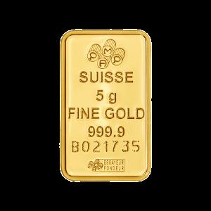 5 g PAMP Suisse Gold Bar