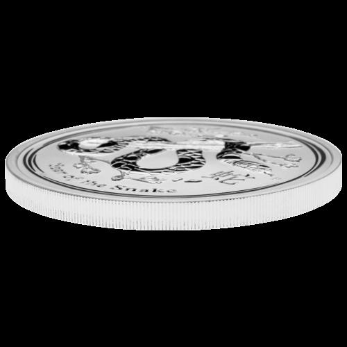 5 oz Silbermünze - Jahr der Schlange - 2013