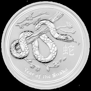 5 oz Silbermünze Jahr der Schlange Mondserie 2013