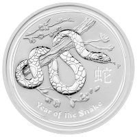 5 ounce 2013 Year of the Snake sølvmønt