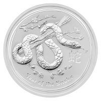 2 oz 2013 Lunar Year of the Snake Silver Coin