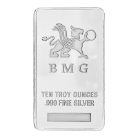 Barra in argento 10 oz BMG
