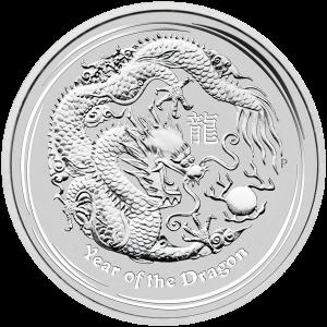 1 kg | Pièce d'argent Année lunaire du dragon en kilo 2012