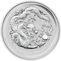 1 oz 2018 Perth Mint Lunar Year of the Dog Colourized Silver Coin