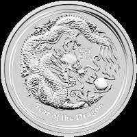 1 kg Silbermünze Jahr des Drachen Mondserie 2012