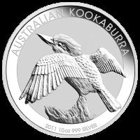 10 oz australische Silbermünze - Kookaburra - 2011