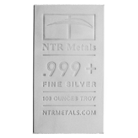 100oz NTR Silver Bar