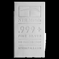 100 oz neuer NTR Silberbarren