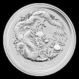 1 oz 2012 Lunar Year of the Dragon Silver Coin