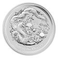 1 oz 2012 Lunar Year of the Dragon Silver Coin