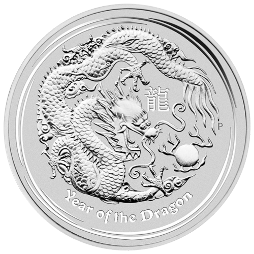 10 oz 2012 Lunar Year of the Dragon Silver Coin