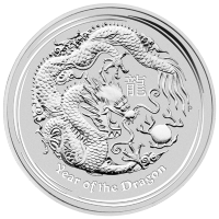 10 oz 2012 Lunar Year of the Dragon Silver Coin
