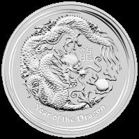 10 oz Silbermünze - Jahr des Drachen - 2012