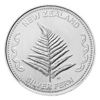 1 oz New Zealand Fern Silver Round