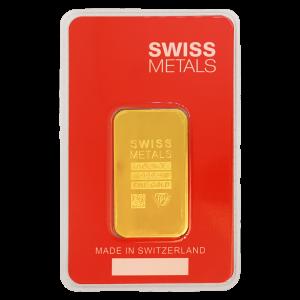 1 oz Swiss Metals Gold Bar