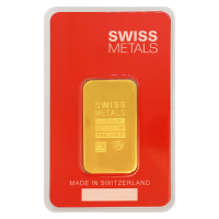 1 oz Swiss Metals Gold Bar