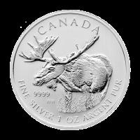 1 oz Silbermünze kanadischer Elch 2012 | Verfärbt und fleckig