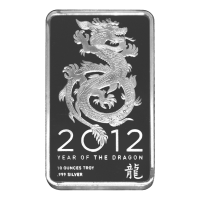 10 oz NTR Year of the Dragon Silver Bar