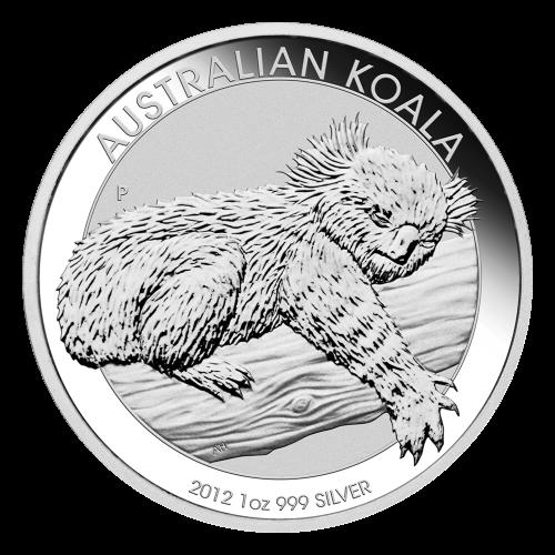 1 oz 2012 Australsk koala sølvmynt