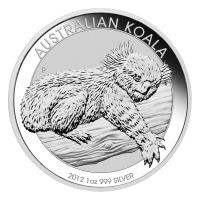 Moneta in argento 1 oz 2012 Koala australiano