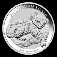 1 oz Silbermünze - australischer Koala - 2012