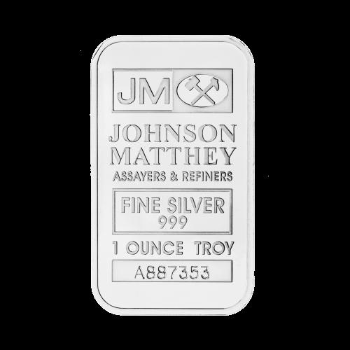 Johnson Matthey Logo - Johnson Matthey - Prüfer und Veredler - Feinsilber 999 - 1 Feinunze - Seriennummer