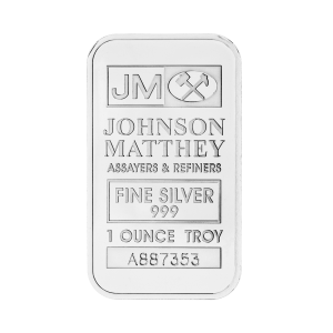 1 oz Johnson Matthey Zilveren Baar